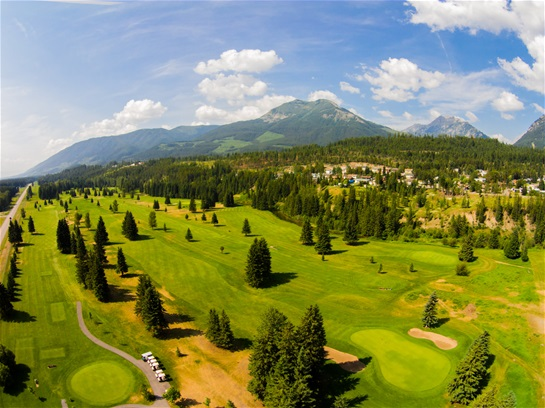 Elkford's beautiful 9 Hole golf course.